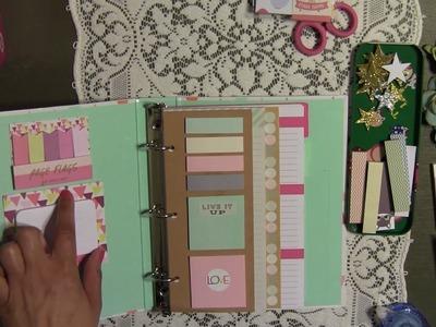 Planner Set Up - DIY - from Target Dollar Spot & Page Flag Booklet