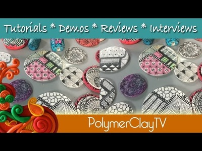 Adult Coloring on Polymer Clay Coloring Techniques