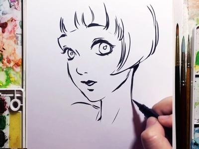 Brush Pen Speed Drawing