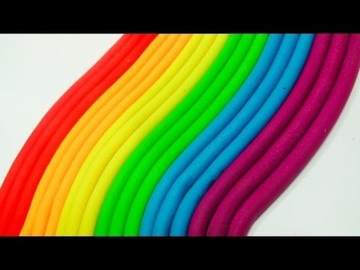 Clay Videos For Kids Modelling Play Doh Rainbow Fun and Creative Learn Colors For Children