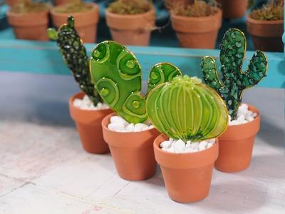 Como hacer tecnica de fussinglue - Hot Melt - Cactus -