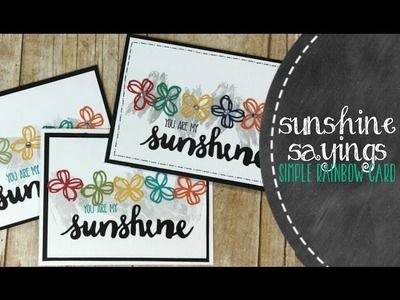 Creating A Simple Sunshine Rainbow Card