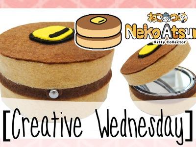 "DIY NEKO ATSUME ""PANCAKE CUSHION"" INSPIRED POCKET MIRROR! (NO SEW) [CREATIVE WEDNESDAY]"