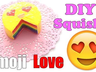 Easy Emoji Rainbow Cake Squishy Tutorial (Make Up Sponge)