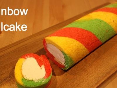 Easy Rainbow Roll Cake