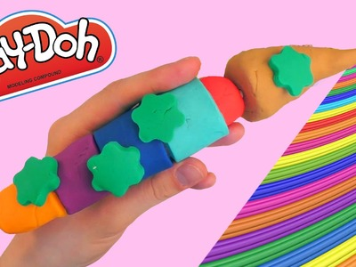 Play-Doh Magic Brush Rainbow Colors Stars * Creative DIY Play-Doh Fun for Kids with Modelling Clay