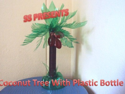 Coconut Tree With Plastic Bottle