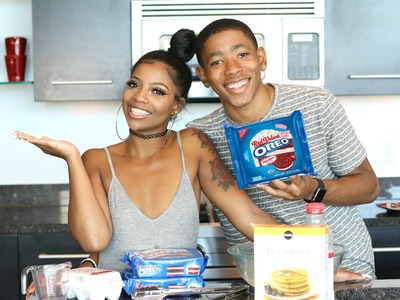 "COOKING WITH DK4L | HOW TO MAKE FRIED ""RED VELVET"" OREOS"