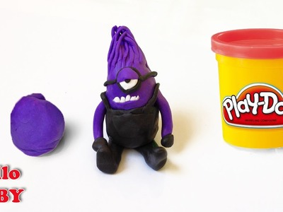 DIY How To Make Evil Purple Minion, Play Doh | Despicable Me 2 - The Purple Minion Attacks (2013)