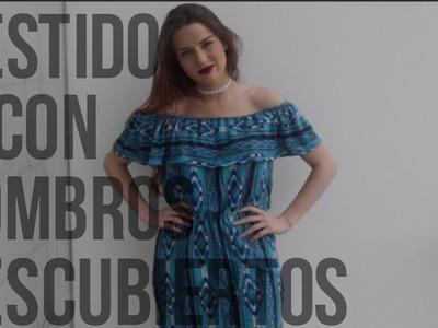 DIY : vestido sin hombros. off shoulder dress