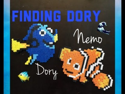 Finding Dory Perler Beads.Dory and Nemo Tutorial!!