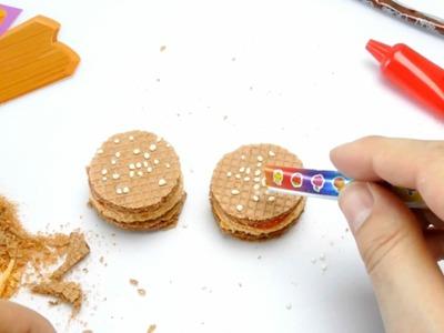 MY BURGER - DIY Waffle Burger Candy