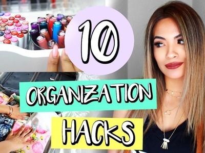 10 Organization Hacks That Will Save Your Life! | Belinda Selene