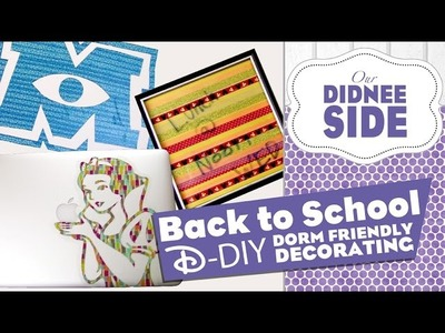 BACK TO SCHOOL - DISNEY DIYs - Paint Safe Wall Art and more!