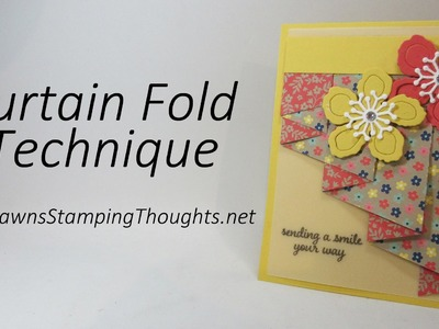 Curtain Fold Technique with Affectionately Yours Designer Paper from Stampin'Up!