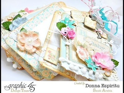 Donna Espiritu Graphic45 Baby 2 bride tag mini tutorial