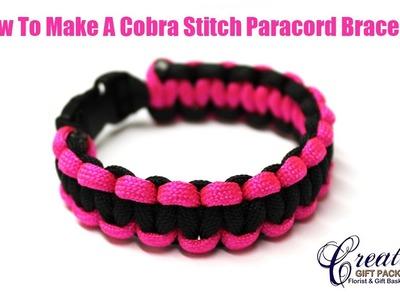 How to Make a 2 color Cobra Stich Paracord Bracelet