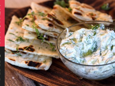 How to make Greek Tzatziki Sauce | Akis Kitchen