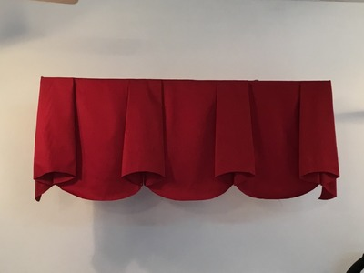 How to make scalloped valance with bells (part 1)