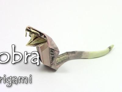 Origami Money Cobra | Como fazer origami Serpente cobra - Yakomoga dollar Origami tutorial