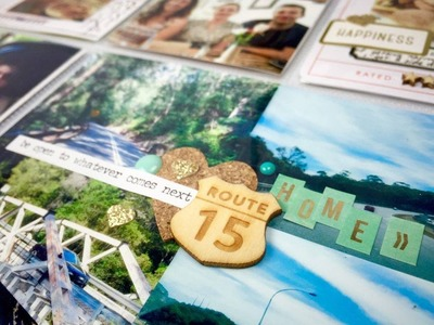 Project Life Process Video ~ March ~ Even More Freaking Camping ~ Scrapbooking with + + + INKIE QUIL