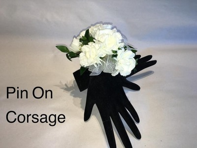 Quick Way To Make A pin On Corsage - Wedding Or Prom