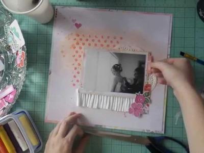 Scrapbooking Process Video 12x12 - Feb Hip Kit #1