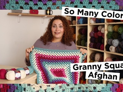 So Many Colors! A Cotton Granny Square Baby Blanket!