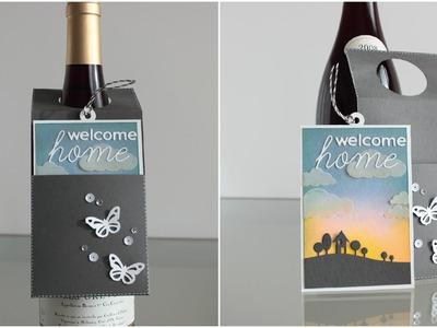 Tarjeta-colgante para botella. Wine bottle hang card
