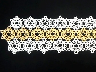 Tatted Snowflake Table Runner Part 2
