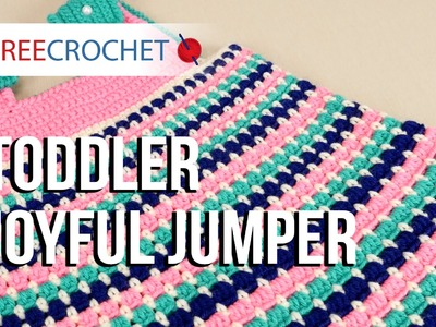 Toddler Joyful Jumper Tutorial With Red Heart Baby Hugs Yarn