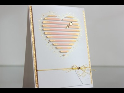 Valentine's card: adding dimension to your die cuts