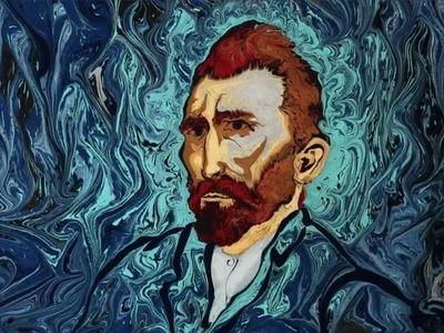 Van Gogh with Ebru Art ( short )