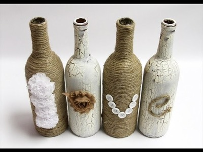 19 DIY Wine Bottle Decoration Ideas