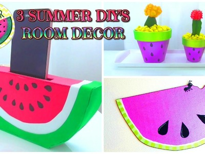 3 DIY SUMMER ROOM DECOR IDEAS - WATERMELON- Isa ❤️