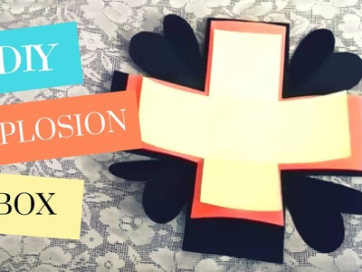 Art and Craft: Explosion Box Tutorial! (Basic) How to make an Explosion Box Card - DIY Gift Idea!