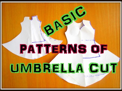 BASIC PATTERN MAKING OF UMBRELLA CUT ( KNEE LENGTH, FLOOR LENGTH)
