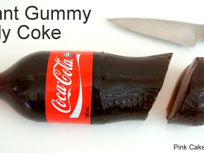 Coke Jelly Bottle - How to Make a Giant Gummy Coke Bottle for April Fool's Day