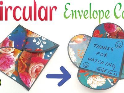 "Craft Tutorial to make Paper  ""Circular Interlocking Envelope 