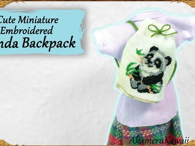 Cute Miniature Panda Backpack - Embroidery Doll Tutorial