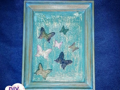 Decoupage shabby chic photo frame with antique paste DIY ideas decorations craft tutorial