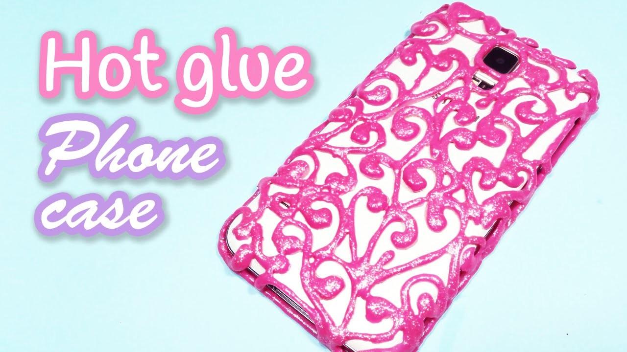 DIY crafts: HOT GLUE PHONE CASE - Innova Crafts