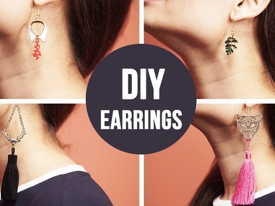 DIY : How To Make Earrings | EASY DIY Craft Tutorial