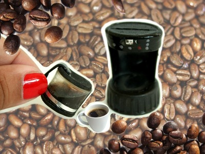 DIY MINIATURE Coffeemaker ( REALLY WORKS!!) tutorial | Binkybee