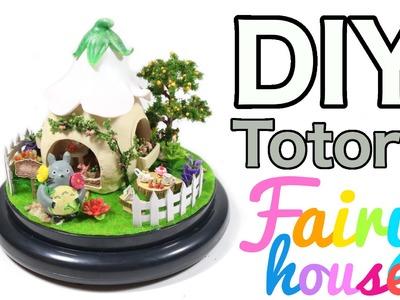 DIY Miniature Totoro Fairy House