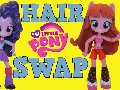 DIY My Little Pony Custom Twilight Sparkle Pinkie Pie Hair Swap