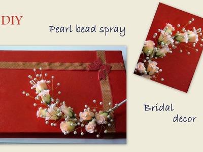 Diy pearl bead spray and bridal decor