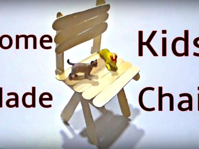 DIY - Popsicle Stick Chair - Craft For Kid - Hacks For Real Life