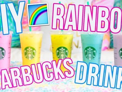 DIY RAINBOW STARBUCKS DRINKS!! Pink Drink, Purple Drink, Blue Drink + More!!