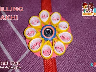 DIY: Rakhi Making from Quilling paper video tutorial - Raksha Bandhan